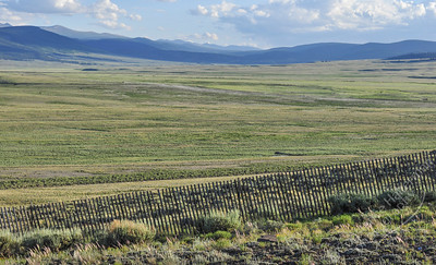 San Juan Mountains - snow fence